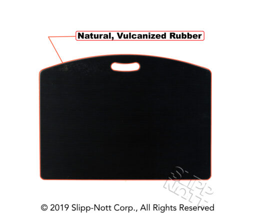 Natural Vulcanized Rubber on Back of Trac Mate Sports Traction Base