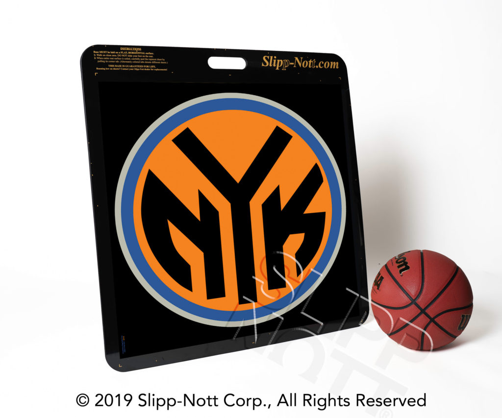 NY Knicks Logo on Large Custom Traction Base
