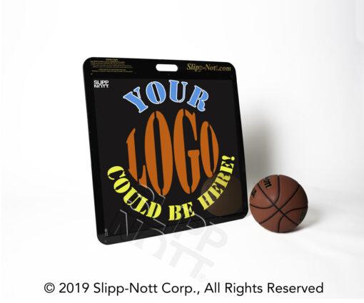Custom Slipp-Nott Traction Base with Team Logo and Basketball