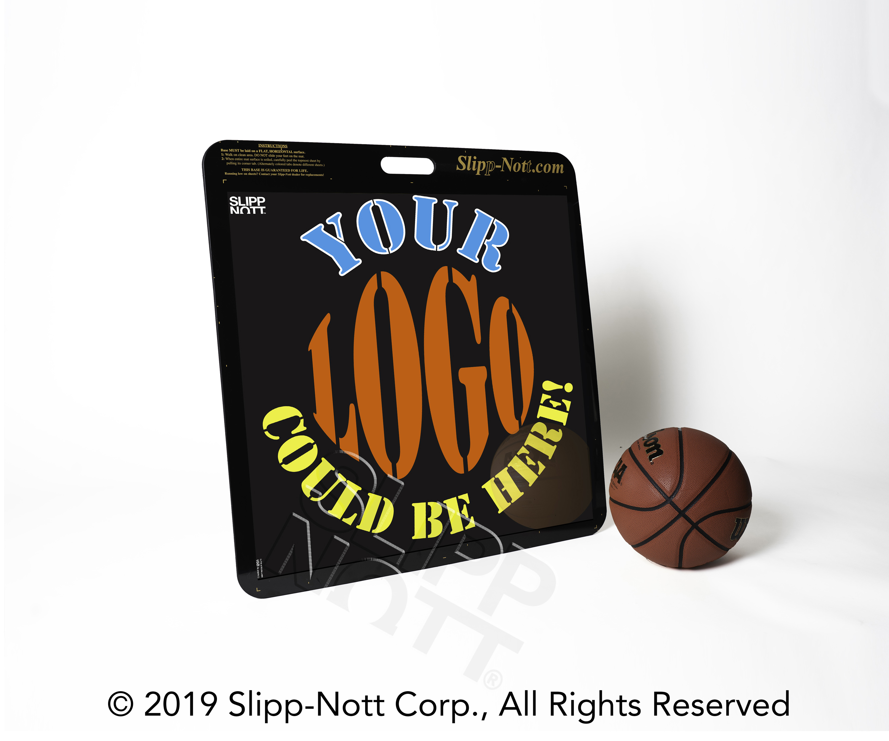 Custom Slipp-Nott Traction Base with Team Logo and Basketball