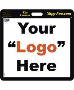 Large traction base with custom print of your team's logo