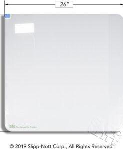 Measurements of large 60-sheet adhesive mat for large Slipp-Nott base