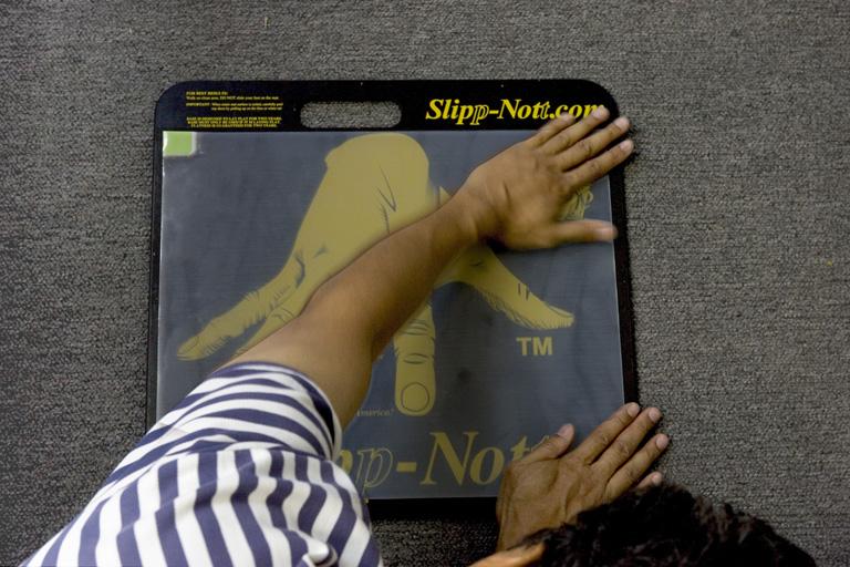 Step 11: Slipp-Nott Traction Mat Mounting
