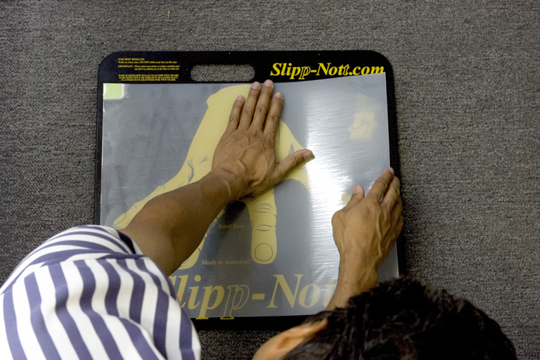 Step 9 of Slipp-Nott Traction Mat Mounting
